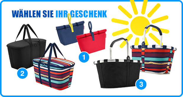 WOHN-DESIGN Sommeraktion 2016 - Reisenthel Bags