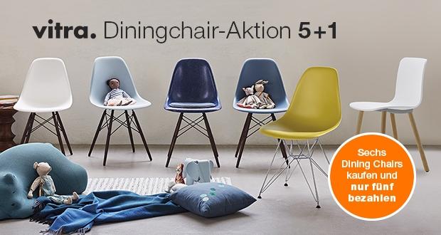 Sechs Vitra Dining Chairs kaufen und nur fünf bezahlen