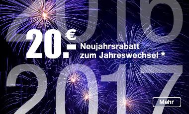 Neujahr 2017 Einkaufsgutschein